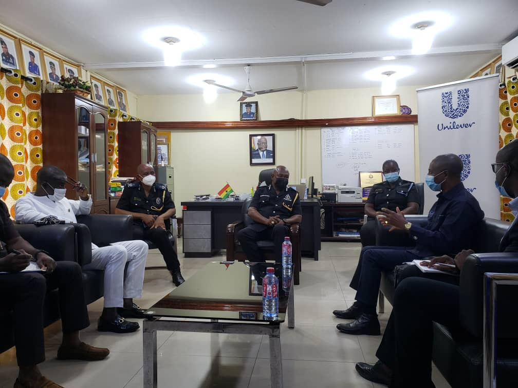 Unilever Ghana pays working visit to Tema Police Regional Command